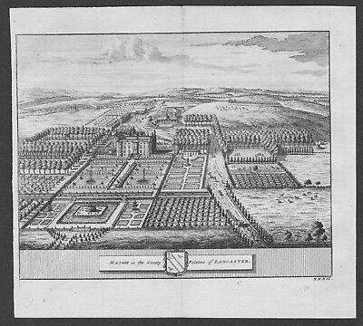 1700 - Haigh Greater Manchester Lancashire England United Kingdom engraving view