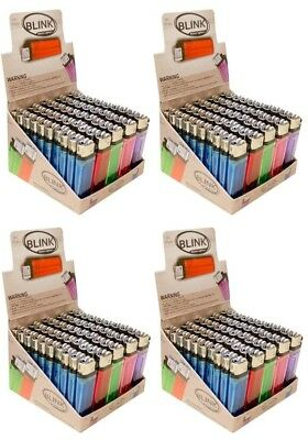 200 Classic Full Size Cigarette Disposable Lighters Wholesale Lot BLINK MK IGNIT