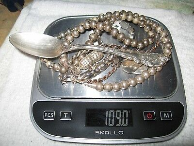109 grams of scrap sterling and .925 silver
