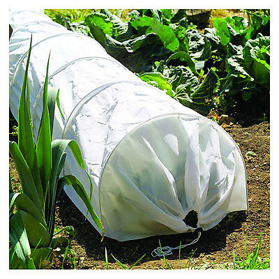 Garden Grow Tunnel, White Fleece/Wire, 18-In. x 10-Ft.