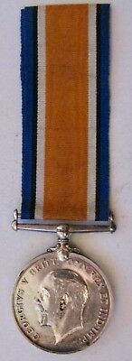 Great Britain WWI Campaign Medal + Ribbon Named PTE C.Keenan Scottish Borderers