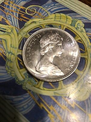 1965 Canada Silver Dollar From Mint Roll, Unc
