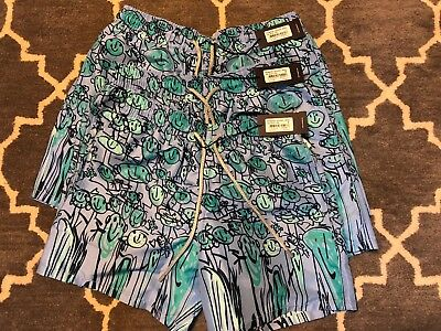 322e283498 $250 NWT Vilebrequin Men Swim Trunks Moorea Bleu Ciel Confort Small Medium  Large