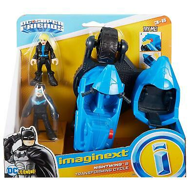 Imaginext Nightwing & Transforming Cycle Robin & Black Canary Figures DC Friends