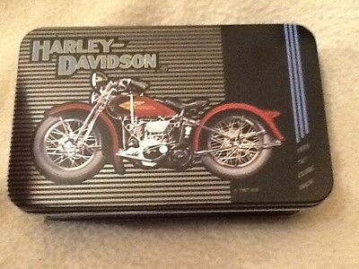 Harley Davidson Limited Edition Numbered Tin & Historical Playing Cards Sealed