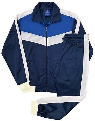 Men's Activewear Athletic Track Jacket & Track Pants Jogger Sports Tracksuit Out