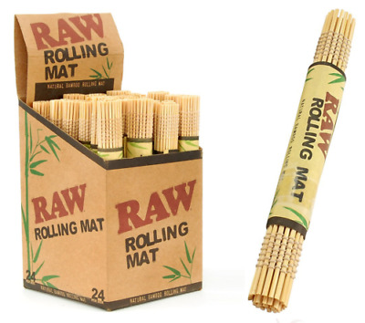 "3x AUTHENTIC RAW All Natural Bamboo Cigarette Rolling Mats (4.75""x 3.25"")"
