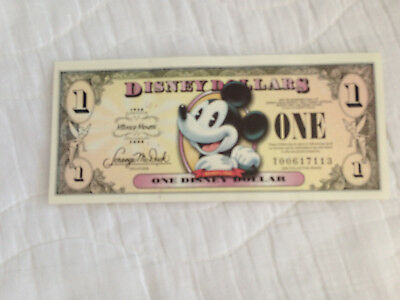 2008 $1 Mickey Mouse 80th Anniversary Disney Dollar #T00617112 Uncirculated