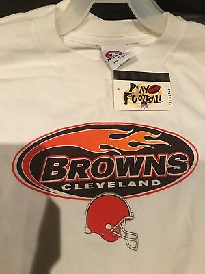 finest selection 41238 fdd4a CLEVELAND BROWNS NFL Football True Fan T-Shirt Jersey Size: Youth [L] Large
