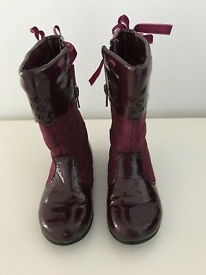 Clarks Cayla Girls 24 Patent Leather Boots