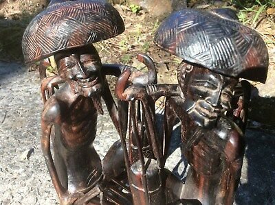 Balinese  Wooden Carving X 2