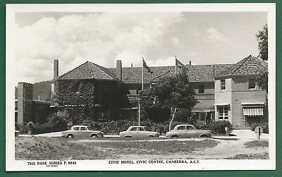 Civic Hotel Canberra Rose Series RP Postcard