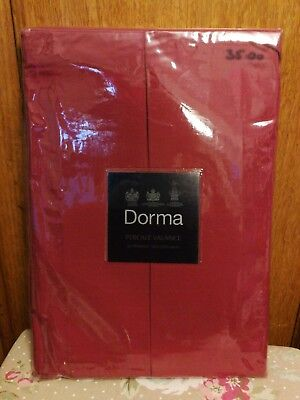 Dorma  SUPER KING soft pleated valance ~ colour claret