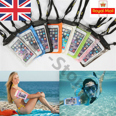"""Underwater Waterproof Case Dry Bags Pouch Shoulder Strap For iPhone Phone 5.8"""""""