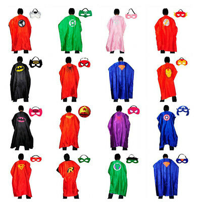 Adults Superhero Capes Costume with Mask Party Dress Up Cape 140cm L x 90cm W