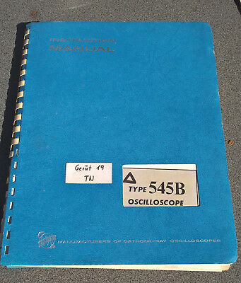 "Tektronix TEK 545B ""Instruction Manual"""