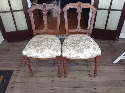 Two Charming Antique Dining Chairs