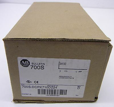 NEW Allen Bradley 700S-DCPK710DZ24 Safety Control Relay Bulletin 24VDC NIB