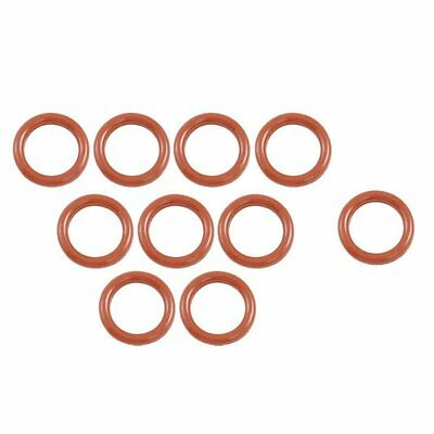 3X(10 Pcs 16mm OD 2.5mm Thickness Silicone O Ring Oil Seals Gaskets Dark Re Q9V5