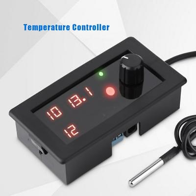 LED Digital Temperature Controller Heater Cooler Thermostat with Sensor DC12V