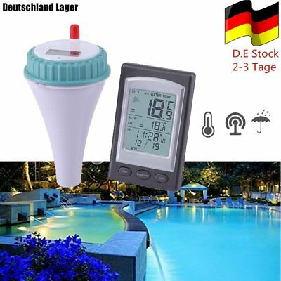 Funk LCD Pool Thermometer Digital Wasserthermometer Schwimmbad Wireless Teich