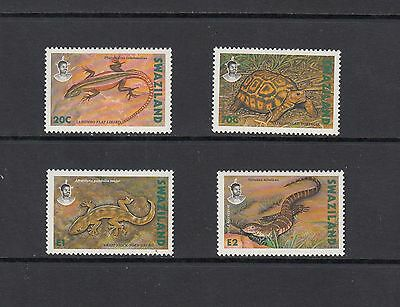 TURTLES/REPTILES/LIZARDS/GECKOS - Swaziland- 1992 set of 4 - (SC 596-9)-MNH-A269