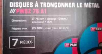 disques a tronconner (Pack of 7) 76x1x10mm