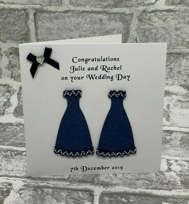Gay Wedding Engagement Cards Mrs and Mrs Personalised Lesbian Blessing Civil NEW