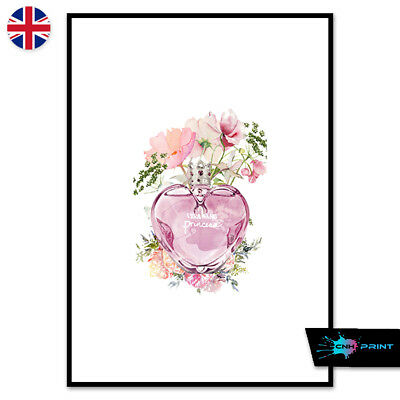 Pink Perfume Bottle Fashion Poster Print A4 A3 Wall Art Home Decor 1456