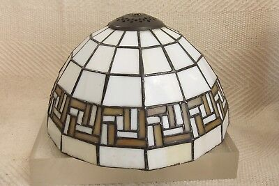 Vintage Art Deco 1930's Tiffany Lead Lined Mosaic Glass Cieling Light Shade