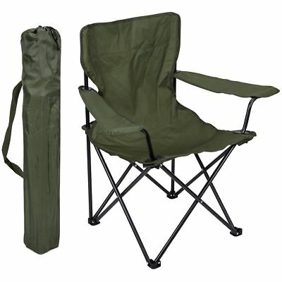 British Army Folding Camping Chair Olive Green Military Surplus Outdoor Seat