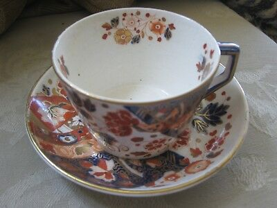 RIDGWAY CUP & SAUCER c. 1880, OLD DERBY PATTERN