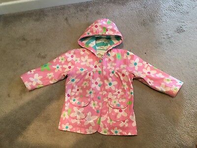 Hatley Girls Raincoat Coat Pink Age 3 Good Condition