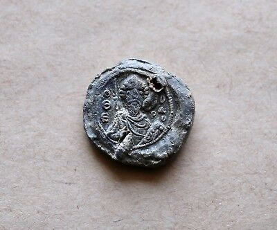 Byzantine Lead Seal/ Bleisiegel, Iconographic Style (St. George / St. Theodore)