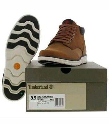 * Timberland Bradstreet Chukka Boots Mens Leather Ankle Boots Brown Uk 9 S,