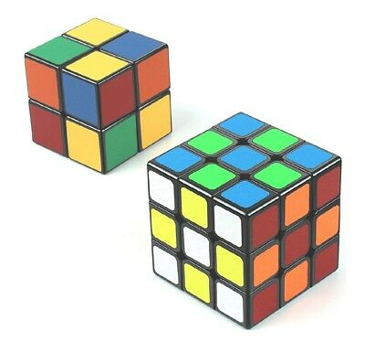 Speed Cube Set of 3x3 & 2x2 Bundle with Cube Smooth Puzzle for Kids and Adults