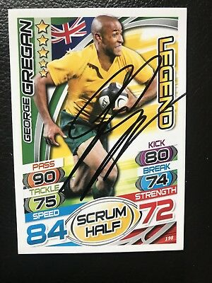 George Gregan Signed Rugby Attax Trading Card No.198 Australia Legend Topps