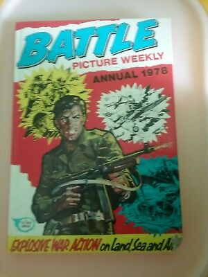 Unclipped Battle picture weekly annual 1978 Hardback