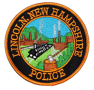 LINCOLN NEW HAMPSHIRE NH Police Sheriff Patch RR RAILROAD TRAIN STEAM ENGINE OLD