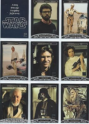 Star Wars - 30th Anniversary - Complete 120 Trading Card Set - Topps 2007 - NM
