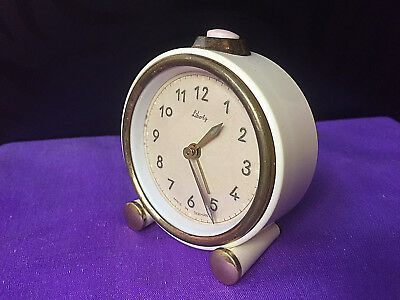 Vintage Mechanical Alarm Clock Liberty Germany Rare Collectible Old