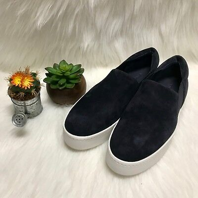 Vince Navy Suede Platform Shoes Womens Size 9/ EU 39 Navy White