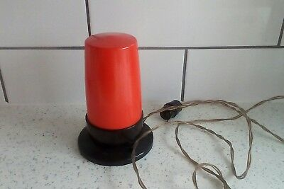 Art Deco Bakelite Orange Darkroom Light, Ready To Use