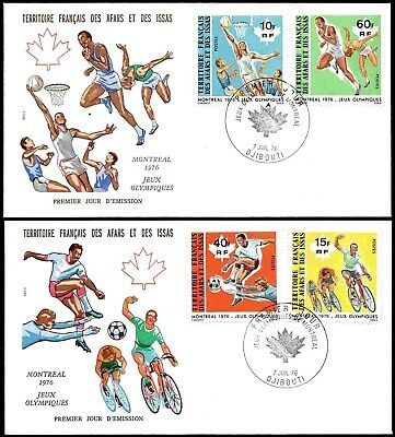 AFAR + ISSA ʘ 1976 MiNr. 150 - 153 FDC Olympische Sommerspiele '76 in Montreal