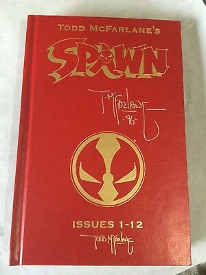 Autographed Todd McFalane SPAWN Hard Cover Issues 1-12. Rare. Mint