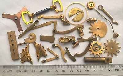 Selection of Brass Clock Parts – Spares / Steampunk / Art Material