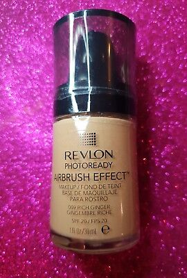 Revlon Photoready Airbrush Effect Makeup Foundation 009 Rich Ginger