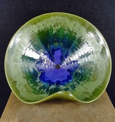 Lorraine Bates Studio Pottery Art Bowl. Wood Setton Pottery.