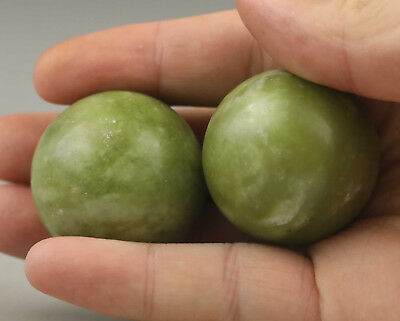 Chinese old natural Jade hand-carved Gymnastic Ball NO.D191