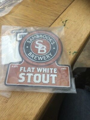 Sambrook's Brewery  Flat White Stout Beer Pump Clip